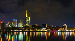 Frankfurt cityscape at night Royalty Free Stock Photography
