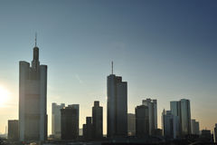 Frankfurt cityscape panorama. Modern city Stock Photography