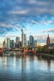 Frankfurt cityscape at sunrise Stock Images