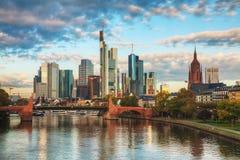 Frankfurt cityscape at sunrise Royalty Free Stock Images