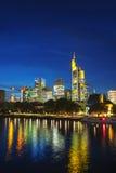 Frankfurt cityscape at sunset Stock Photography