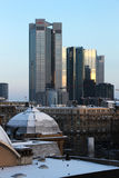 Frankfurt cityscape under the snow Stock Photos