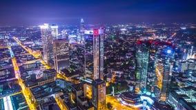 Frankfurt, Cityscape van Duitsland stock videobeelden