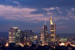 Frankfurt Cluster Royalty Free Stock Photos