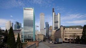 Frankfurt commercial center Stock Photos