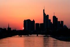 Frankfurt at dawn royalty free stock images