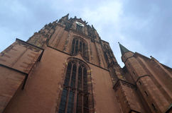 Frankfurt Domplatz. St. Bartholomew Cathedral royalty free stock photo