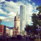 Frankfurt downtown Royalty Free Stock Image