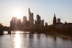 Frankfurt downtown skyline Stock Photos
