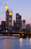 frankfurt drapacze chmur Obraz Royalty Free