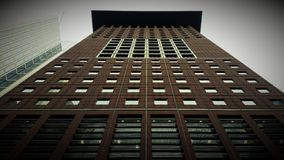 Frankfurt drapaczy chmur panoramy widoku architektura spod spodu Zdjęcia Royalty Free