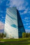 FRANKFURT, DUITSLAND - SEPTEMBER 19 2015: Nieuw hoofdkwartier van Eur Royalty-vrije Stock Afbeelding