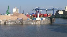 Frankfurt East harbor stock footage
