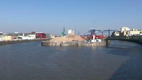 Frankfurt East harbor stock video
