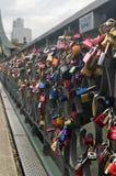Frankfurt Eiserner Steg Locks Stock Images