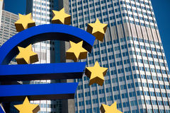 frankfurt euro symbol Germany fotografia stock