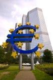 frankfurt euro znak Fotografia Royalty Free
