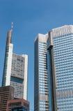Frankfurt - f.m. - huvudsaklig Tyskland - Comerzbank, ECB - höghus Arkivfoto
