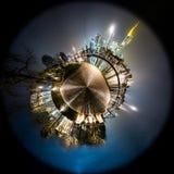 Frankfurt - f.m. - liten planet för huvudsaklig horisont Royaltyfri Fotografi