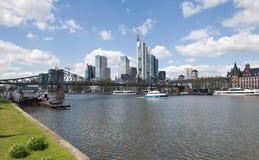 Frankfurt f.m. Maine cityscape Royaltyfria Foton