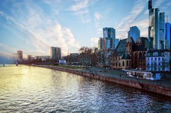 Frankfurt - f.m. - strömförsörjning Arkivfoton