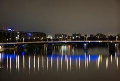 Frankfurt - f.m. - strömförsörjning Fotografering för Bildbyråer