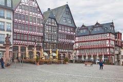 Frankfurt - f.m. - strömförsörjning center historiskt Arkivfoto
