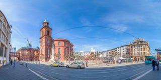 Frankfurt - f.m. - strömförsörjning, Paulskirche, panorama Royaltyfri Foto