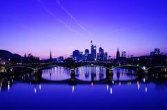 Frankfurt - f.m. - strömförsörjning Royaltyfria Foton