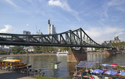Frankfurt Footbridge Royalty Free Stock Photos