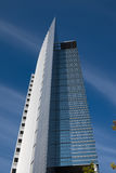 Frankfurt futuristiskt kontorstorn Royaltyfria Bilder