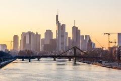 Frankfurt Główna linia horyzontu, Niemcy Zdjęcie Stock