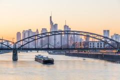 Frankfurt Główna linia horyzontu, Niemcy Zdjęcia Stock