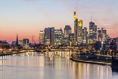 Frankfurt Główna linia horyzontu, Niemcy Obraz Royalty Free