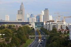 Frankfurt Główny śródmieście, Niemcy Obrazy Stock