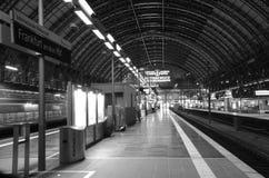 Frankfurt - Am - główny Hauptbahnhof Obraz Royalty Free