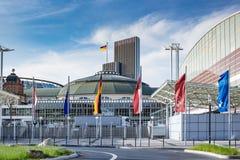 Frankfurt ganska Festhalle Messe i Tyskland Fotografering för Bildbyråer