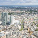 Frankfurt Germany aerial view Royalty Free Stock Photo