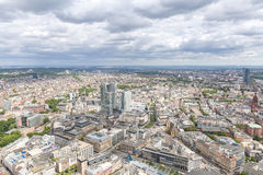Frankfurt Germany aerial view Stock Photos