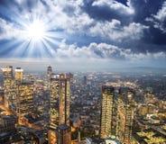 Frankfurt, Germany. Beautiful city skyline at sunset Royalty Free Stock Photography