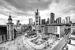 Frankfurt, Germany in black and white Stock Image