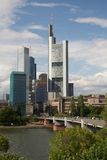 Frankfurt, Germany -Business district on the river Royalty Free Stock Images