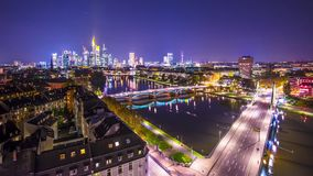 Frankfurt, Germany Cityscape stock footage