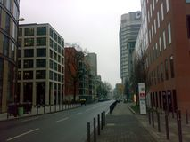 FRANKFURT, GERMANY - DECEMBER 22, 2007: Architecture and people on the streets city. FRANKFURT, GERMANY - DECEMBER 22, 2007: Architecture and people on the stock photos
