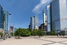 Frankfurt, Germany, downtown in spring stock images