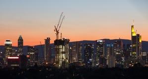 Frankfurt germany evening skyline Stock Photography