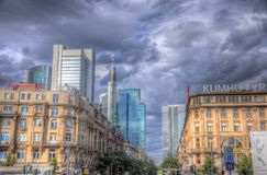 FRANKFURT, GERMANY - JUL 12: Skyscrapers Royalty Free Stock Photos