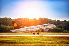 FRANKFURT,GERMANY: JUNE 22, 2017: Airbus A319 LUFTHANSA. Royalty Free Stock Images