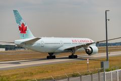 FRANKFURT,GERMANY: JUNE 23, 2017: Boeing 777-200LR Air Canada is Royalty Free Stock Photography