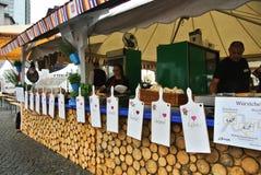 FRANKFURT, GERMANY - JUNE 6, 2017: Market with food of Croatia at the food festival. At Frankfurt, Germany stock images